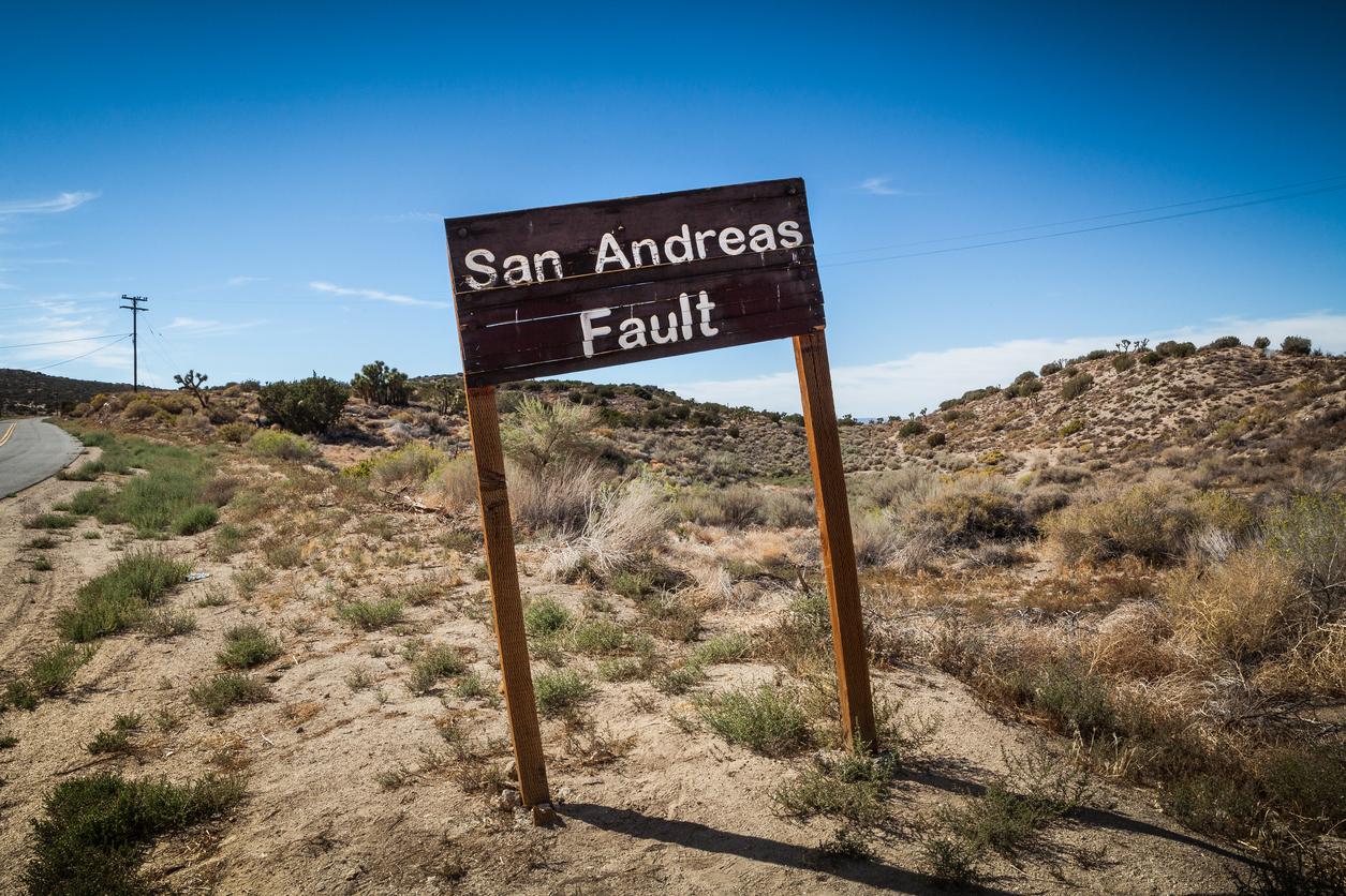 San Andreas Fault Sign